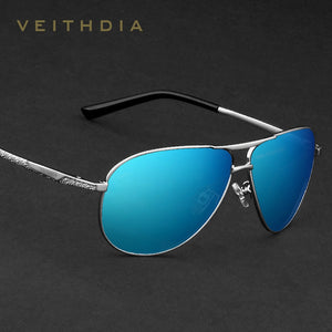 VEITHDIA Brand Classic Fashion Polarized Men's Mirror UV400 Sunglasses. Lens Eyewear Accessories - Men/Women 2556