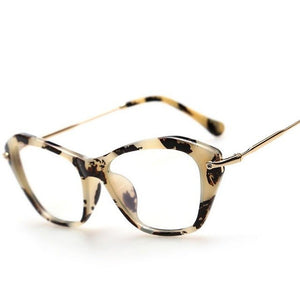 2017 Vintage Women's Wholesale Framed Fashion Cat Eyes. Men & Ladies Style Myopia Spectacles Optical Rx Clear