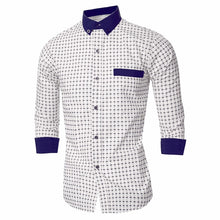 Load image into Gallery viewer, Stylish Autumn Men's Long Sleeve Classic Plaided Social, Formal, Dress, Business Shirts