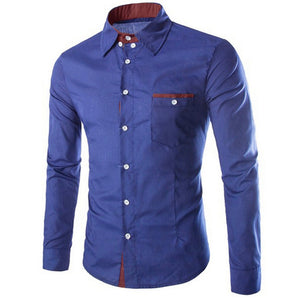 *On Sale* Formal Autumn Social Casual Long Sleeve Turn Down Collar Cotton Slim Fit Shirts