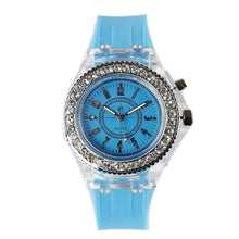 Load image into Gallery viewer, LED Women's Fashion Luminous Glow Quartz Rhinestone 5 inch Wristwatch