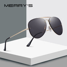 Load image into Gallery viewer, MERRY's Design Men/Women Fashion Pilot Sunglasses. Twin-Beams Frame 100% Metal Temple UV Protection