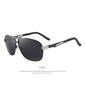 MERRY's Men's Classic Polarized Rectangle HD Aluminum Driving Sun Glasses