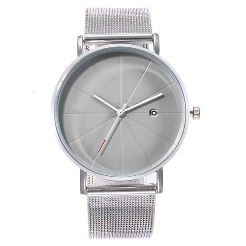 New Fashion Alloy Band Quartz Easy To Read Complete Schedule Unisex Wrist Watch