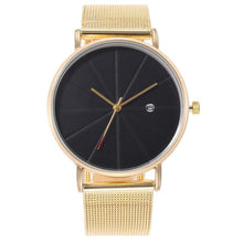 Load image into Gallery viewer, New Fashion Alloy Band Quartz Easy To Read Complete Schedule Unisex Wrist Watch