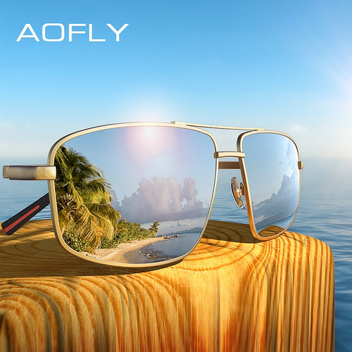 AOFLY BRAND DESIGN Classic Men's Polarized Driving Sunglasses With Metal Frame
