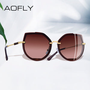AOFLY  2019 Fashion Polarized Women's Vintage Cat Eye Sunglasses Female Shades UV400 A115