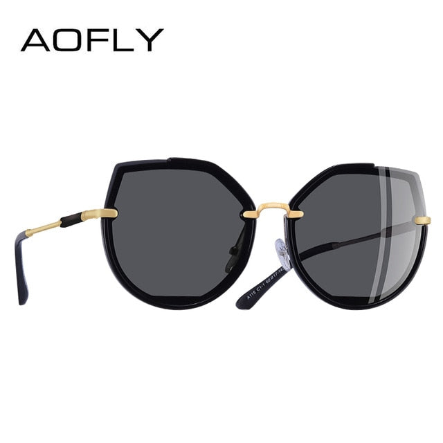 AOFLY  2019 Fashion Polarized Women's Vintage Cat Eye Sunglasses Female Shades UV400