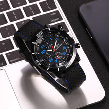 Load image into Gallery viewer, Men's Sports Silicone Strap Analog Black Clock Dial Lifetime Waterproof Wrist Watch