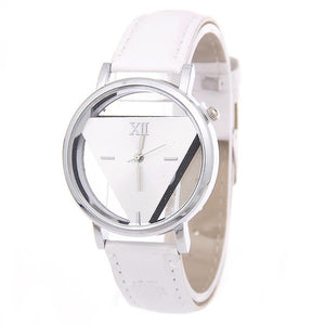 Quartz Unisex Hollow Analog Synthetic Leather Casual 4cm/1.6inch Watchband Wristwatch