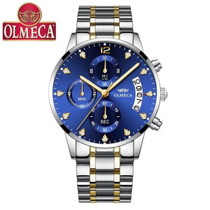 Olmeca Men's Business Casual 30 Meters Waterproof Multi-Function Quartz Watch