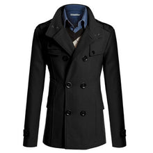 Load image into Gallery viewer, Men's Business Trench Formal Smart Woolen Jacket. Casual Slim Office Windbreaker Male Overcoat 2019