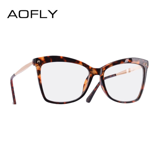 AOFLY BRAND DESIGN Retro Vintage Spectacle Cat Eye Frame Women's Eyeglasses. Plain & Clear Lens