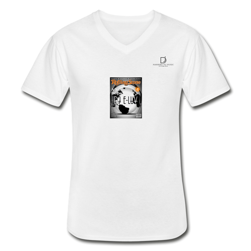 Men's V-Neck T-Shirt - white