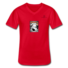Load image into Gallery viewer, Men's V-Neck T-Shirt - red