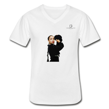 "Load image into Gallery viewer, Sade ""Vintage"" - Soulful Classy Artist I Men's V-Neck T-Shirt - white"