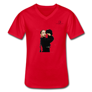 "Sade ""Vintage"" - Soulful Classy Artist I Men's V-Neck T-Shirt - red"