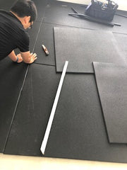how to cut gym mats