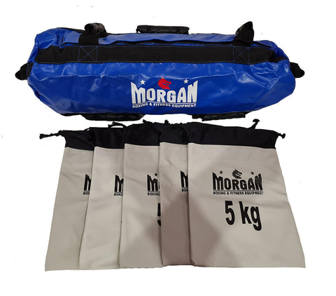 Image of 25kg CROSS TRAINING SAND BAG STRENGTH TRAINING WEIGHT REFILLABLE 5KG  POWERBAG