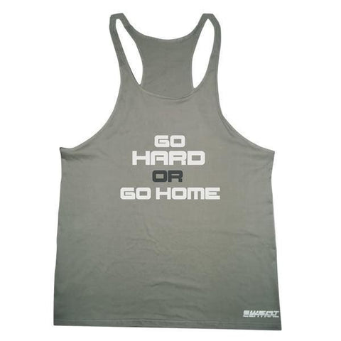 Gym Singlet- GO HARD OR GO HOME - sweatcentral