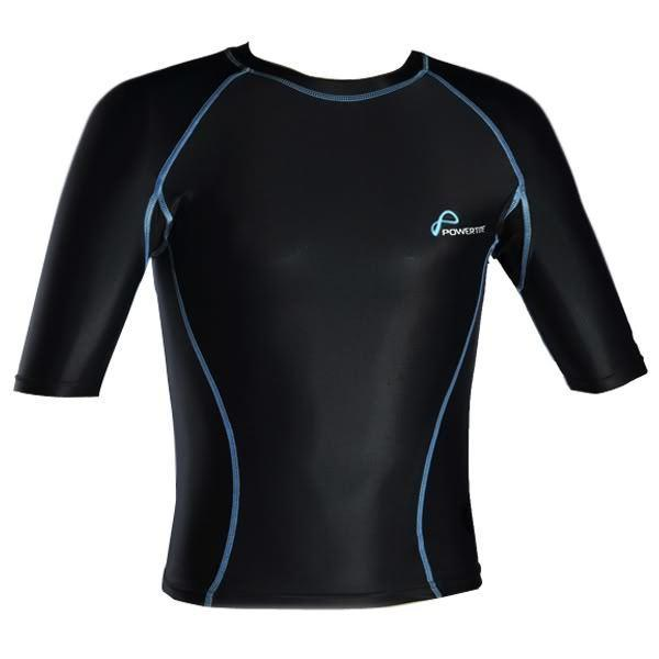 POWERTITE KID YOUTH ACTIVE COMPRESSION PERFORMANCE TOP SKINS SHORT SLEEVES TOP - sweatcentral