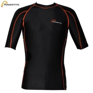 POWERTITE MEN COMPRESSION TIGHTS SKINS SHORT SLEEVES TOP - SIZE SMALL