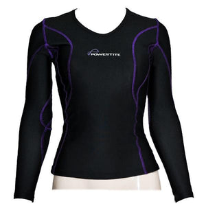 POWERTITE WOMEN COMPRESSION PERFORMANCE TIGHTS SKINS LONG SLEEVES TOP SIZE XL