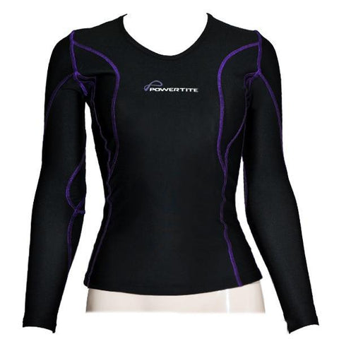 Image of POWERTITE WOMEN COMPRESSION PERFORMANCE TIGHTS SKINS LONG SLEEVES TOP - sweatcentral