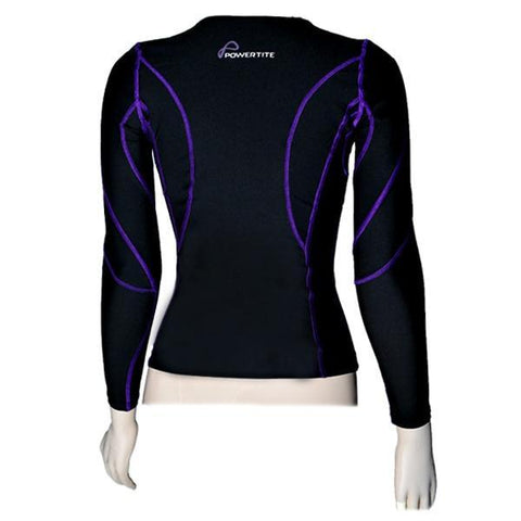 POWERTITE WOMEN COMPRESSION PERFORMANCE TIGHTS SKINS LONG SLEEVES TOP - sweatcentral