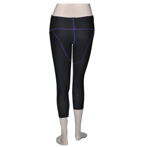 POWERTITE WOMEN COMPRESSION PERFORMANCE TIGHTS SKINS QUARTER PANTS - Size XXL - sweatcentral