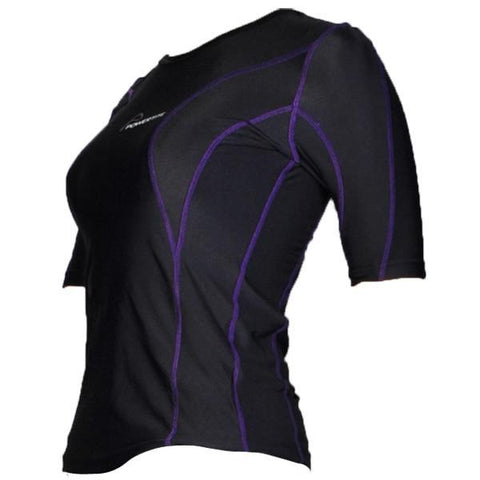 POWERTITE WOMEN COMPRESSION PERFORMANCE TIGHTS SKINS SHORT SLEEVES TOP - sweatcentral