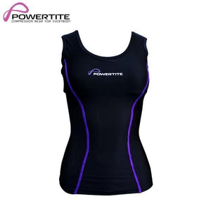 POWERTITE WOMENS COMPRESSION SKINS SLEEVELESS TANK TOP SINGLET & SUPPORT BRA - Size Small