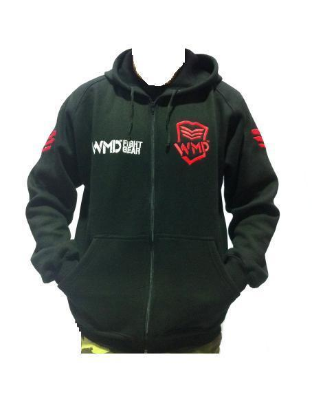 Accessories WMD FIGHT GEAR HOODIE | STREET GYM WEAR JUMPER JACKET MMA CLOTHING UFC sweat central