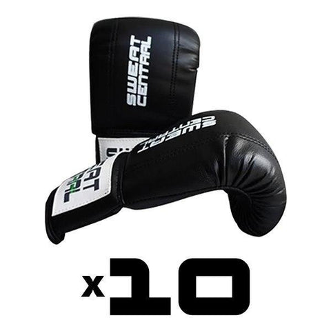 10x BOXING BAG MITTS GLOVES PERSONAL TRAINING PACK - sweatcentral