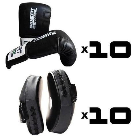 BRONZE PACK 10x BOXING BAG MITTS & 10x FOCUS PADS GROUP TRAINING - sweatcentral