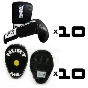 BRONZE PACK 10x BOXING BAG MITTS & 10x FOCUS PADS GROUP TRAINING