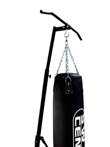 Image of FREE STANDING FOLDABLE BOXING BAG & CHIN PULL UP BAR STAND PUNCHING BRACKET - sweatcentral