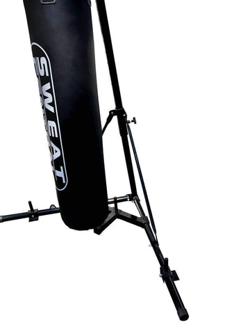 FREE STANDING FOLDABLE BOXING BAG & CHIN PULL UP BAR STAND PUNCHING BRACKET - sweatcentral