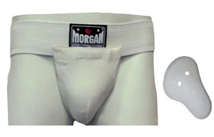 GROIN GUARD PROTECTOR WITH CUP  MARTIAL ARTS MMA BOXING BJJ KICK MUAY THAI - sweatcentral