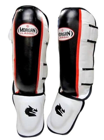 Image of MORGAN CLASSIC KICK BOXING MMA SHIN GUARDS SHINGUARD INSTEP LEG PADS - sweatcentral