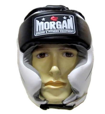 MORGAN FULL COMBAT STYLE FULL FACE HEAD GUARD BOXING PROTECTOR HEAD GEAR - sweatcentral