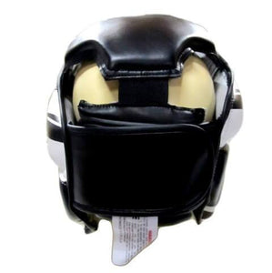 MORGAN FULL COMBAT STYLE FULL FACE HEAD GUARD BOXING PROTECTOR HEAD GEAR