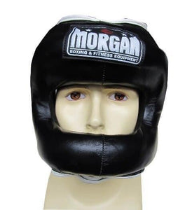 MORGAN NOSE PROTECTOR LEATHER SPARRING HEAD GUARD HEAD GEAR PROTECTIVE GEAR - sweatcentral