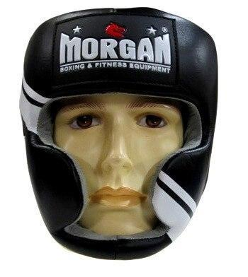 Image of MORGAN PROFESSIONAL LEATHER FULL FACE HEAD GUARD HEAD GEAR PROTECTIVE GEAR - sweatcentral