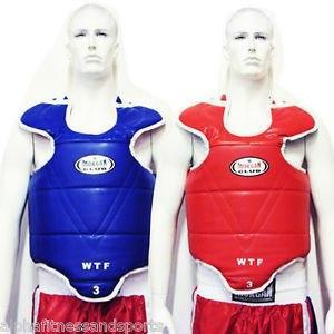 Image of Boxing & MMA TAEKWONDO REVERSIBLE WTF OLYMPIC CHEST GUARD TAE KWON DO KARATE sweat central