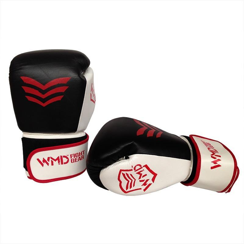WMD COWHIDE LEATHER BOXING GLOVES SPARRING PUNCHING MMA BAG TRAINING - sweatcentral