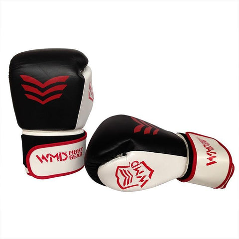 Image of WMD COWHIDE LEATHER BOXING GLOVES SPARRING PUNCHING MMA BAG TRAINING - sweatcentral