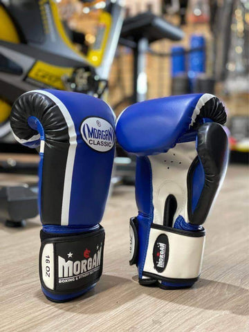 Morgan Classic Boxing Kickboxing Punching Bag Sparring Gloves 16oz - sweatcentral