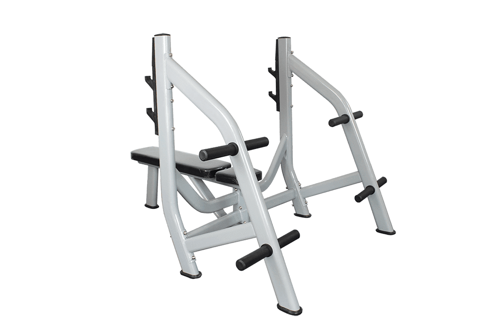 COMMERCIAL FLAT BENCH PRESS OLYMPIC STORAGE WEIGHTS - sweatcentral