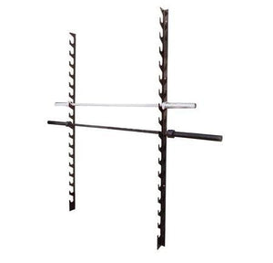 10 ROW BARBELL WALL MOUNT RACK STORAGE HOLDER STAND - sweatcentral